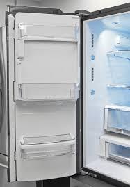 ge glass door refrigerator ge café cfe28tshss refrigerator review reviewed com refrigerators