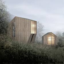 lund hagem u0027s cabin is designed to withstand norway u0027s harsh winters