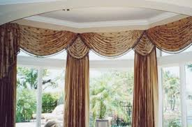 Swag Valances For Windows Designs Swag Valance In Bay Window Inc Contemporary Ideas 11