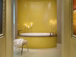 master bathroom with yellow mosaic tile tub this master bath was