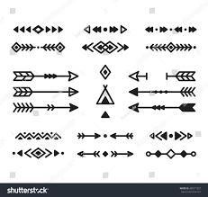 native american indian design elements set stock vector 400771927