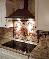 tuscan kitchen backsplash kitchen backsplash tile murals for kitchen tuscan kitchen