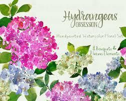 wedding flowers clipart digital clipart watercolor flower clipart hydrangeas clip