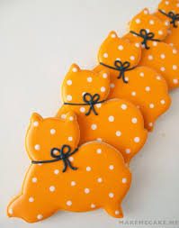 Decorated Halloween Sugar Cookies by Mighty Delighty Purrfectly Simple Halloween Cat Cookies