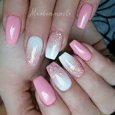 25 best pink white nails ideas on pinterest simple nail design