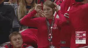 ohio state buckeye fan gets caught cheating on national television or does she