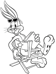 bugs bunny coloring page daffy duck chasing bugs bunny coloring