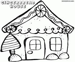 download coloring pages gingerbread house coloring blank