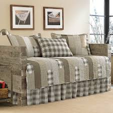 bedroom daybed cover sets with rustic wood frame also decorative