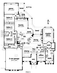 mediterranean style house plan 4 beds 3 5 baths 4271 sq ft plan