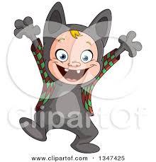 boy happy halloween clipart