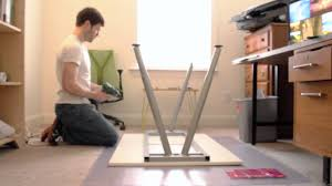 how to assemble ikea desk ikea galant desk assembly youtube