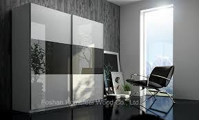 Sliding Door Wardrobe Cabinet China Modern Mirror Gloss Sliding Door Wardrobe Closet Hf Ey022