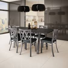 Extending Dining Table And 8 Chairs Amisco Washington Metal Chair And Drift Extendable Table Dining