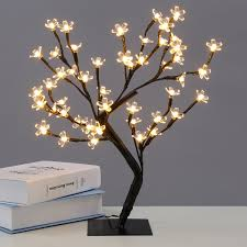 1 5ft led pre lighted christmas bonsai tree warm white cherry