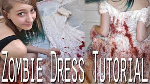 Wedding Dresses For Halloween by Zombie Dress Tutorial Youtube