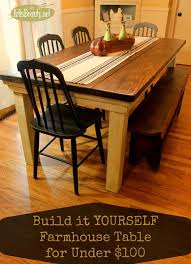Diy Kitchen Table Ideas by Art Is Beauty How To Build Your Own Farmhouse Table For Under 100