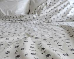 nautical duvet cover etsy