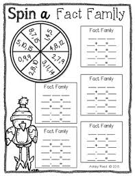 spin a fact family freebie by ashley reed firstgradefaculty