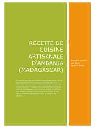 pdf recette cuisine recette de cuisine artisanale d ambanja par chris livre 12 pdf