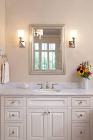 traditional bathroom mirror mirrored sconces with silver framed mirror bathroom traditional and