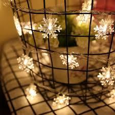 snowflake string of lights dropship brelong led snowflake string festival lights decorative