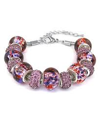 murano glass beads bracelet images Chamonix purple murano glass beaded bracelet with swarovski jpg