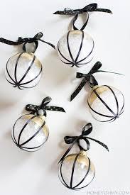 diy black white and gold ornaments black white gold white