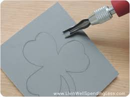 diy linoleum stamps living well spending less