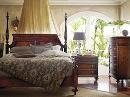 Bedroom Sets With Media Chest Stanley Stanley Furniture British Colonial Poster Bed In Caribe 020 63 42