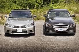 lexus gs 350 vs infiniti q50 comparison test 2015 hyundai genesis 3 8 vs 2015 lexus gs 350