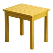 Yellow Side Table Yellow Outdoor Side Tables Patio Tables The Home Depot