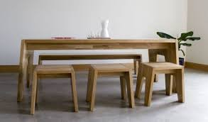 Rustic Dining Tables With Benches Table Dining Table With Bench Seats Home Design Ideas