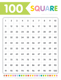 100 square chart free download little graphics