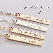custom handwriting necklace custom handwriting necklace actual handwriting bar