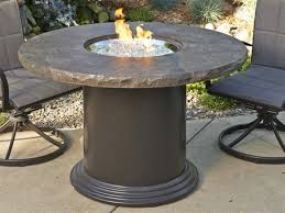 outdoor greatroom fire table outdoor greatroom colonial fiberglass 48 round fire pit chat table