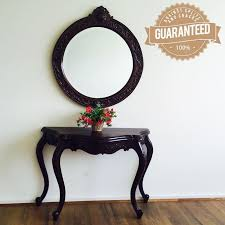 hallway table and mirror sets antique style solid mahogany wood serpentine style hall table