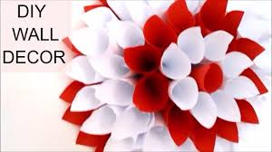 DIY room decor how to make a paper flower for wall decoration