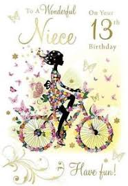 wonderful niece on your 13th birthday bike butterfly design happy