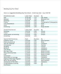 typical wedding program run sheet template 6 free word excel pdf document