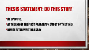 thesis statements how to then do ppt download