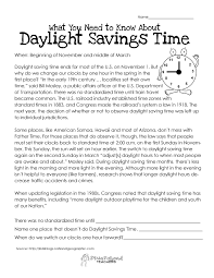 Beginning Middle And End Worksheets What You Need To Know About Daylight Savings Squarehead Teachers