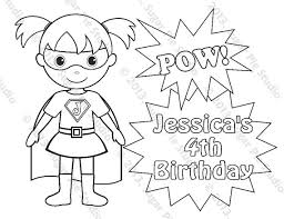 personalized printable superhero super hero birthday