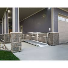 ez access gateway aluminum wheelchair ramps with handrails