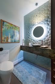 Teal Powder Room Bathroom Remodel Edgework Design Build
