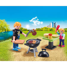 playmobil backyard barbecue carry case playmobil toys