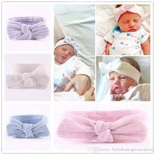 baby headwrap turban ear winter warm newborn headband cotton crochet knitted