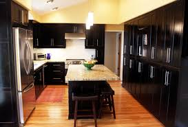 black cabinet kitchen ideas dark atmosphere of kitchen cabinets home design and decor ideas