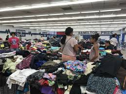 hamilton middle helps flood victims start in new clothes