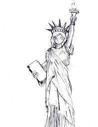 beautiful statue of liberty coloring page download u0026 print